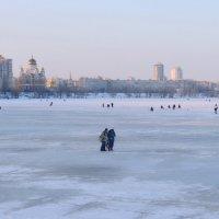 Последние деньки на льду в заливе Днепра :: Валентина Данилова