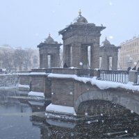 Ломоносовский мост в снегу :: Елена