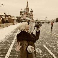 Селфи на Красной площади.. :: Galina ✋ ✋✋