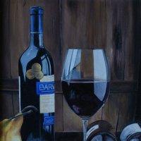 Вино будит разум, чтобы уложить его спать поудобнее. (Картина написана маслом). :: Лара Гамильтон
