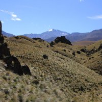 Суровая красота Приэльбрусья. Вид со склонов Эльбруса на г. Чаткара (3898м) :: Vladimir 070549