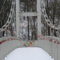 Мост влюблённых в Великих Луках через реку Ловать... :: Владимир Павлов