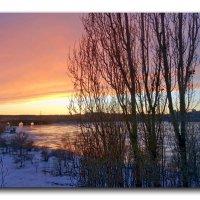 Февральский закат. :: Чария Зоя