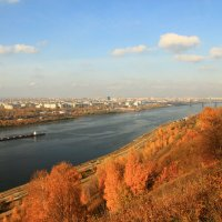 Осенний пейзаж Оки :: Владимир Андреевич Ульянов