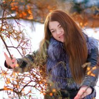 зимний пожар .... :: Мила Гусева