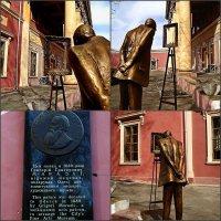 Картина в рамке,  статуя в саду (Е. Ахрамеевой) :: Александр Корчемный