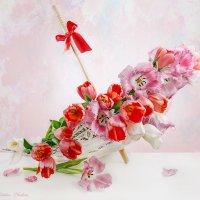 С тюльпанами и зонтиком :: Светлана Л.