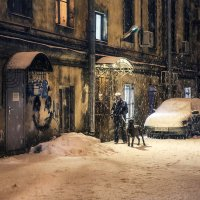 Один снежный день в конце зимы... :: Анна Корсакова