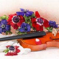 С анемонами и скрипкой :: Светлана Л.