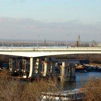 Февраль,утро в городе,реконструкция моста... :: Тамара (st.tamara)