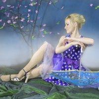 Девушка с зонтиком :: Сергей
