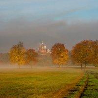 Туманное утро на Андреевском лугу :: Александр Березуцкий (nevant60)