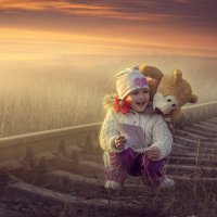 девочка и мишка :: Анна Скиргика