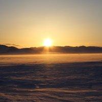 Закат в зимней степи :: Ольга Иргит