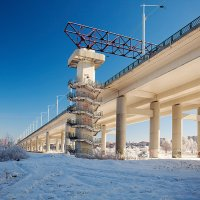 Академический мост в Иркутске :: Анатолий Иргл