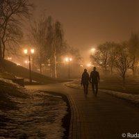 Вечер,туман, двое... :: Сергей