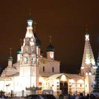 Предновогодняя ночь у церкви Ильи Пророка г.Ярославль :: Anton Сараев