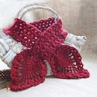 Бордовый шарф, осенний колорит :: Елизавета Федотова