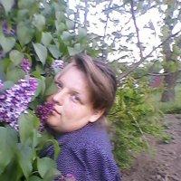 Юная девушка и куст Сирень в цвету... :: Тоня Просова