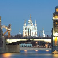 Большеохтинский мост и смольный собор :: Frol Polevoy
