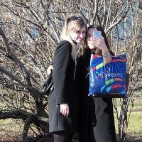 весна,селфи,девушки :: Олег Лукьянов