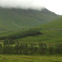 Поезд в горах Шотландии :: Марина Домосилецкая