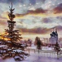Чудесный свет с небес.  Никольская церковь г. Пушкино :: ALISA LISA