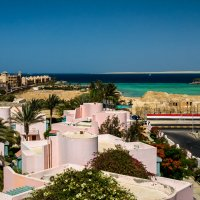 Вид с крыши отеля Zahabia beach resort. :: Ruslan