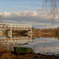 мост , Сож, товарняк :: Александр Прокудин