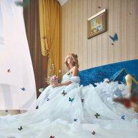 Фотосессия с живыми тропическими бабочками. :: Станислав Башарин