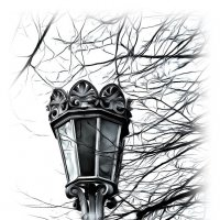 Вновь поёт фонарь потёртый... кружево сплетает грёз... :: Tatiana Markova