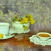 Зелёный чай весны с цветочным ароматом :: galina tihonova