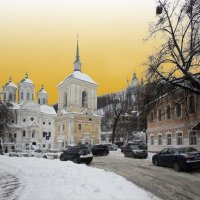 Свято-Покровская Подольская церковь, 18 век :: Владимир Клюев
