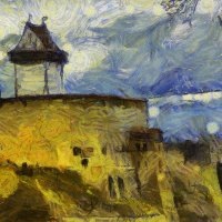 А если б Нарву рисовал Ван Гог? :: Tatiana Markova