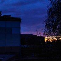 Панорама - посиневшее утро раннее. 4 час. 07 мин. :: Анатолий Клепешнёв