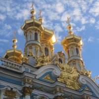 Купола Воскресенской церкви при Екатерининском Дворце :: Елена