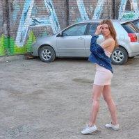попытки модели стать правильно :: Dmitry i Mary S