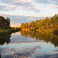 В лучах закатных плещется река. :: Павлова Татьяна Павлова