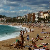 Пляж Испании, Ллорет де Мар, Испания :: Илья Бурцев