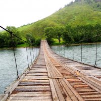 Мост через Чарыш :: kaban-4eg Алтайский