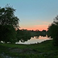 Закат в Белоусовском парке. :: Инна Щелокова