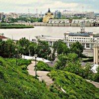 Там где сливается Волга с Окой... :: Андрей Головкин