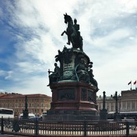 Памятник Николаю I на Исаакиевской площади :: Елена Павлова (Смолова)