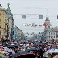 Праздничное шествие...зонтов по Невскому.. :: tipchik