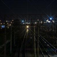 Ночь.Поезд.Фонари. :: Ильдус Хамидулин