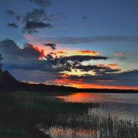 Закат над озером Тараскуль :: Борис Соловьев