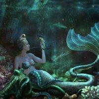 """""""Mermaid"""" - """"Русалка"""" :: Malinka Art Galina Kazan"""