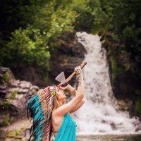 Ольга в образе Индейца :: Анастасия Костюкова