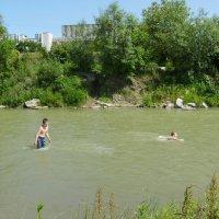 На   реке   Быстрице   Солотвинской   в   Ивано - Франковске :: Андрей  Васильевич Коляскин