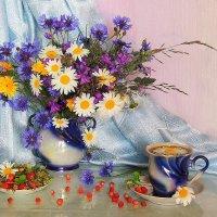 Ромашковый чай с земляникой :: Павлова Татьяна Павлова